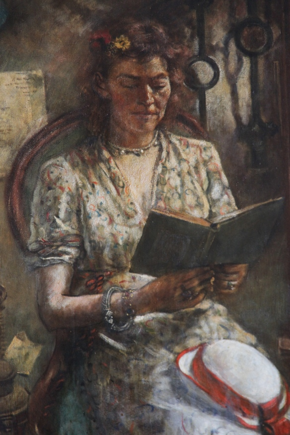 Justus Jorgensen, Portrait of Helen Skipper, oil on canvas