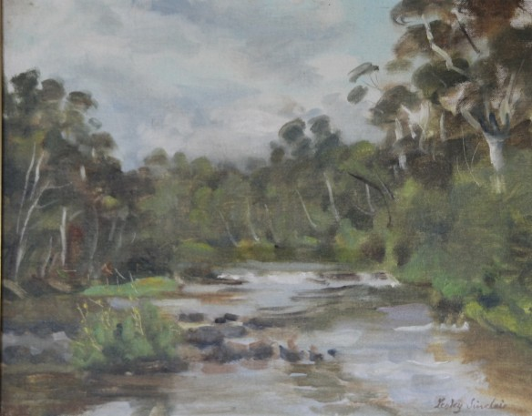Yarra River, Lesley Sinclair - oil on canvas