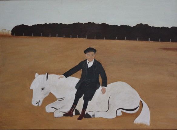 Alan Marshall with Horse, by Margo Knox