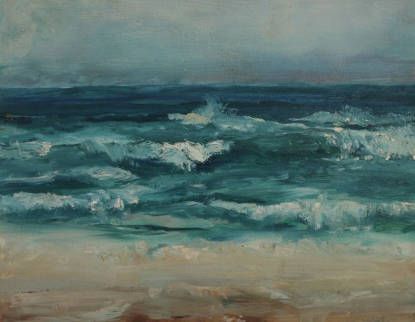 Sea Study, Joe Hannan, oil on canvas