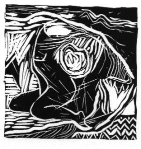 Jenni Mitchell Linocut Print.